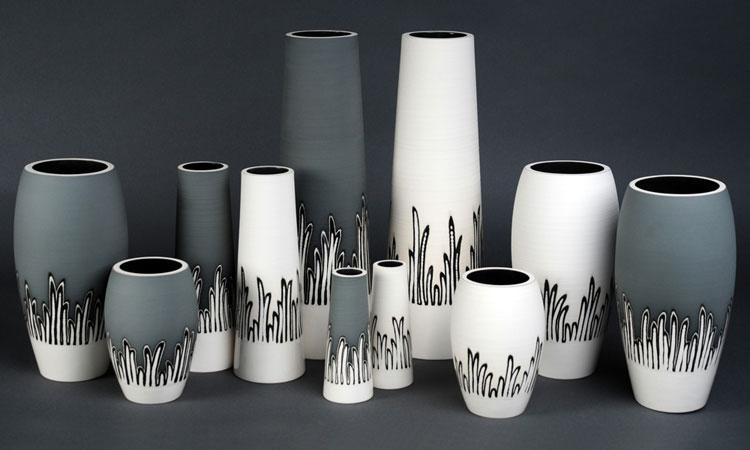 Vasi Per Arredamento Moderno.Vasi Ceramica Moderni Bianchi E Decorati Arredamento Moderno